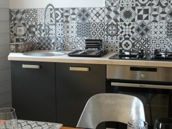 Duplex, cuisine aménagée très bien équipée