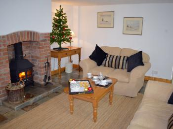 The Lounge in Clematis Cottage at Christmas