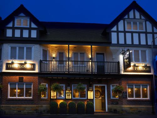 The Plough Scalby at night.
