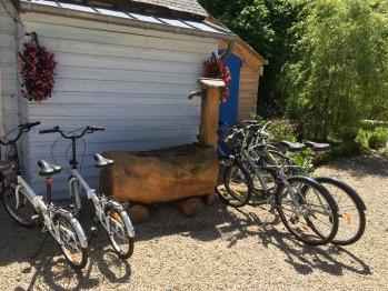 Prêt de vélos, dont certains pliables