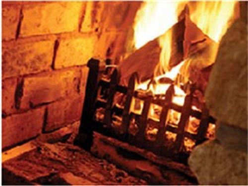 Roaring log fires