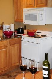 In-Room Kitchen in our kitchen suite rooms; everything you need to prepare simple meals