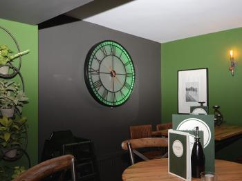 Clock in the bar
