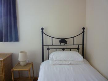 Twin  ground floor bed room in Holiday cottage