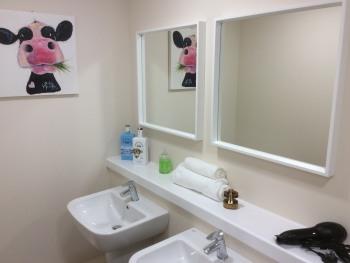 Shared dormitory shower room