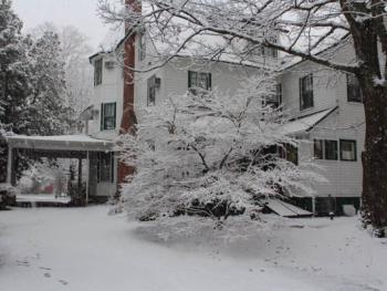 The Back of the Main Inn in the Winter