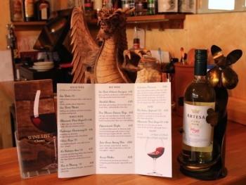 extensive wine menu