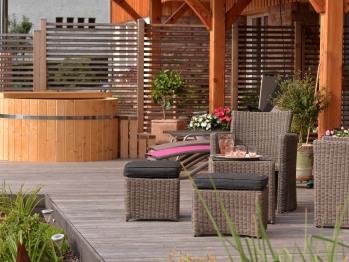 Terrasse et bain finlandais