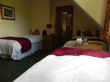 Room 5  3 x single beds en suite