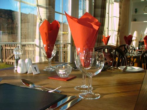 Guests can enjoy both Dinner and Breakfast in the bright Clachan Restaurant