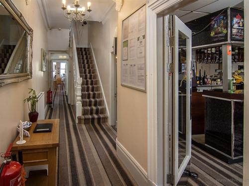 The entrance into our guest house and the Bar