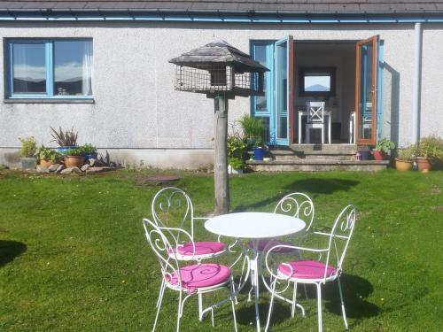 Applecross bed and breakfast - front garden where you are welcome to sit and relax