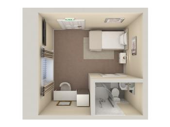 Single Room Floor Plan