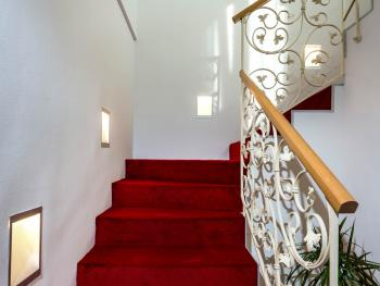 Stairway to Superior Studio Suites
