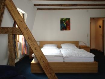 Doppelzimmer-Einfach-Ensuite Dusche-Fachwerkhaus