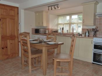 Bluebell Cottage dining area (self catering)