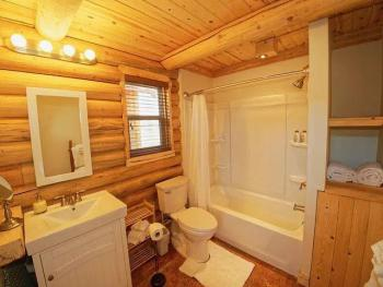 North cabin bathroom