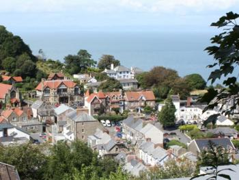 View accross Lynton to the sea