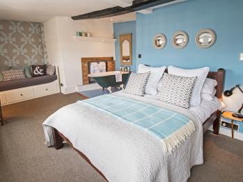 Room 3, also family room, bath in room, no shower, en-suite