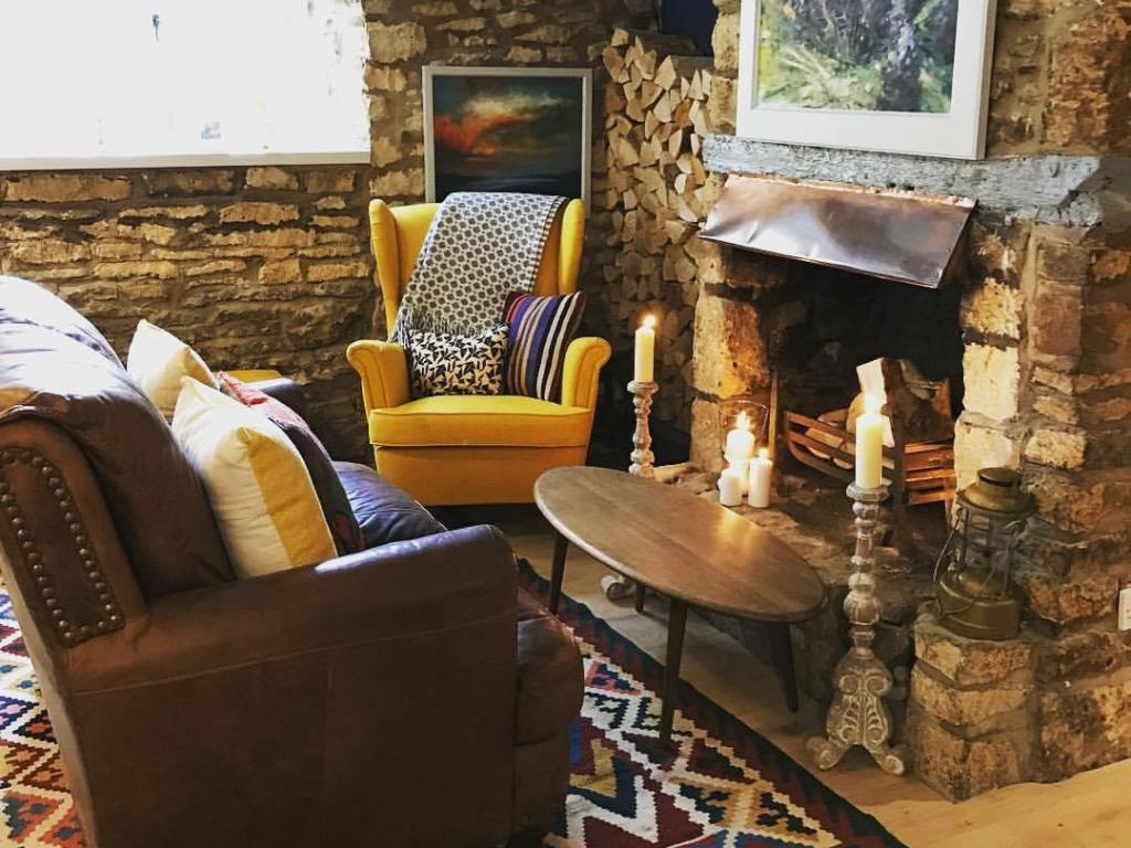 Our fireside seating area
