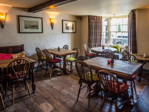 Bar food and drinks area