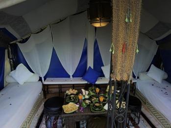 la tente berbère sur la terrasse