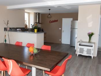 salle à manger, séjour, cuisine ouverte