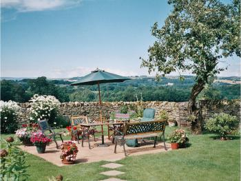 Patio in the walled garden