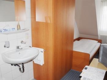 Einzelzimmer-Budget-Gemeinsames Badezimmer