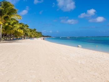 La plage du Morne. L'une des plus belles plages de l'Île Maurice