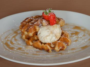 Our Popular Belgian Waffles.