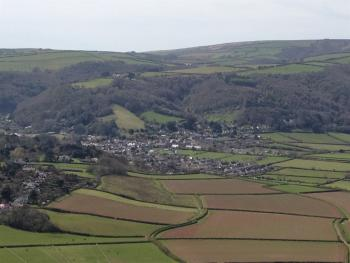View of village from Bossington Hill