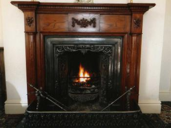 Guest's Lounge Fireplace