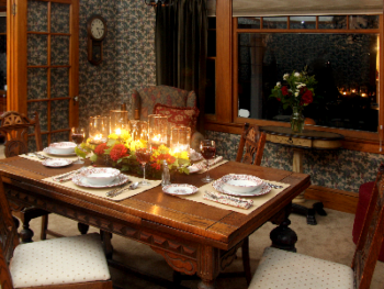 Vintner's romantic dinning room