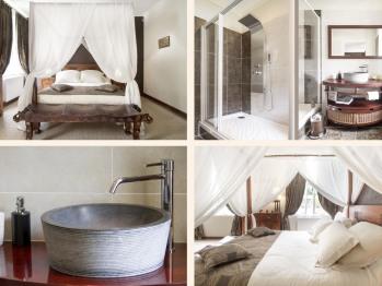 Double-Standard-Salle de bain Privée-Vue sur Piscine-Coloniale