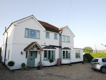 Lime Tree Cottage - Front of house with car parking area