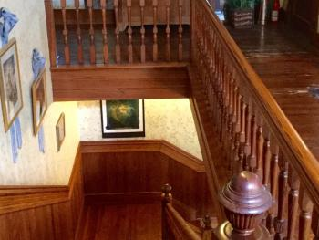 Original 1904 stairwell from 2nd to 1st floors, 26 steps