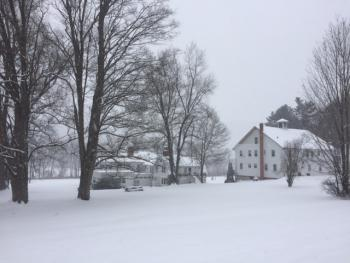 Main house and Carriage House during the winter