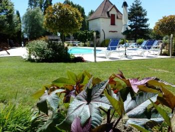 Chambres d'hôtes Au Clos de Beaulieu - Vue piscine