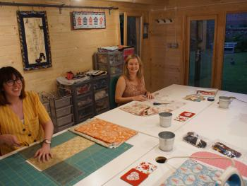 The quilt studio - plenty of space in which to sew