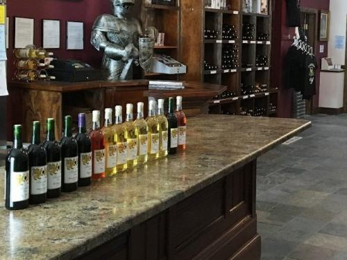 Brambleberry Winery is onsite and open on weekends for tasting or purchases.