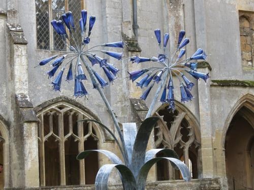 An exhibition of glass sculptures at nearby Lacock