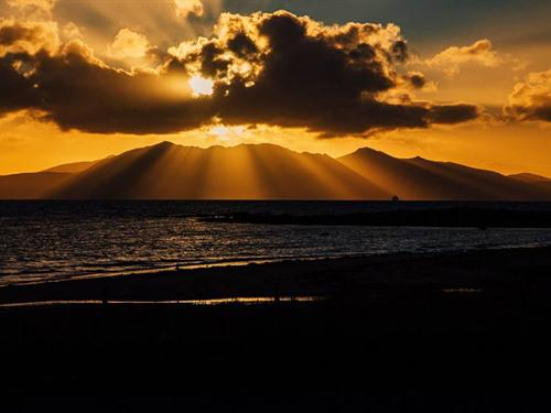 Isle of Arran - spectacular sunset