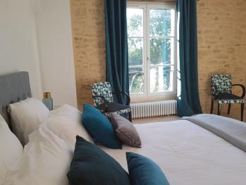 Double-Confort-Bleue-Salle de bain Privée - Tarif de base