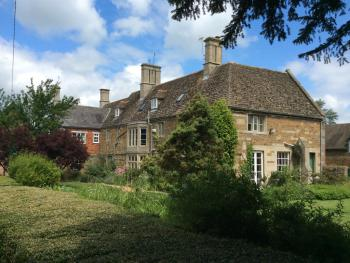View of Castle Farm House from the garden