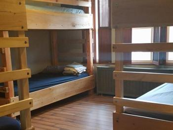 A view of our 6-bed dorm room.