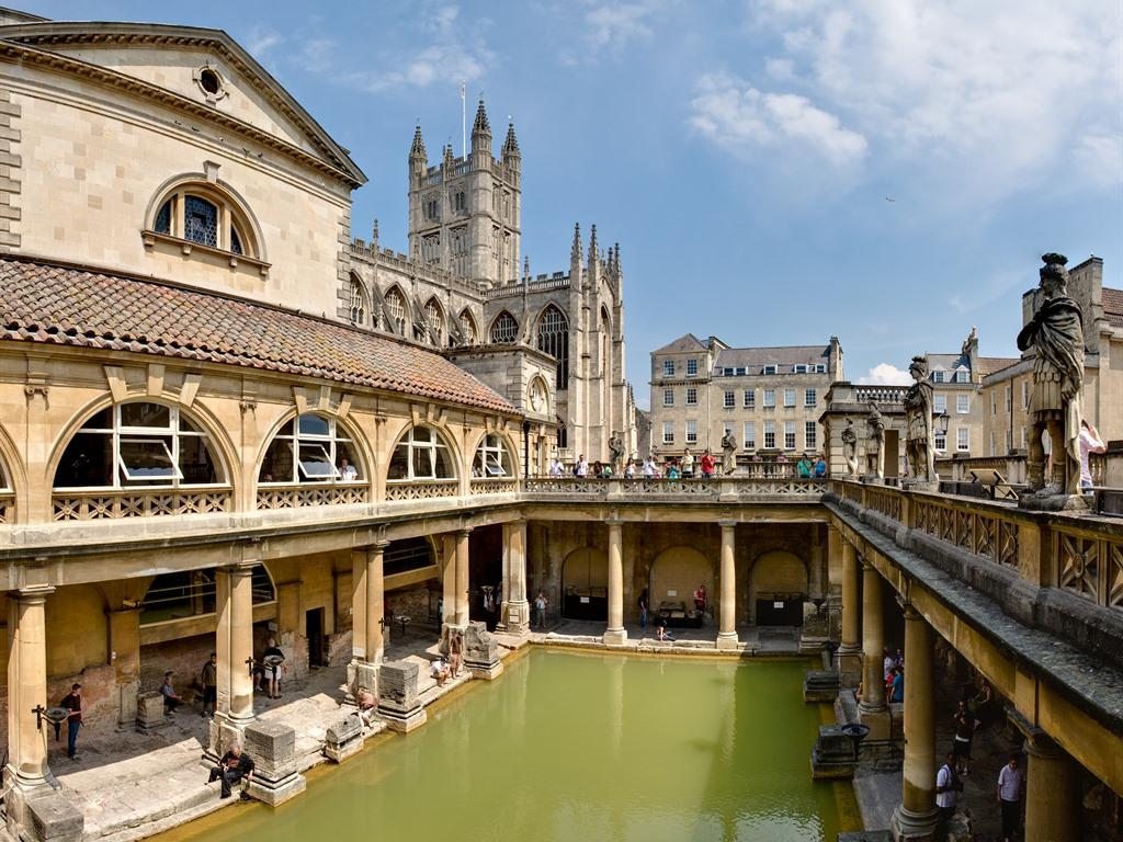 The Roman Baths 5 minutes walk from our accommodation.