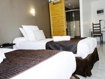 Twin-Confort-Salle de bain et douche-Vue sur Rue - Twin room-Comfort-Ensuite-Street View