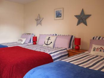 Spacious Family bedrooms en-suite at Seawinds B&B
