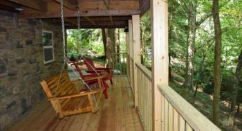 Lower deck of the Waterfall Cottage